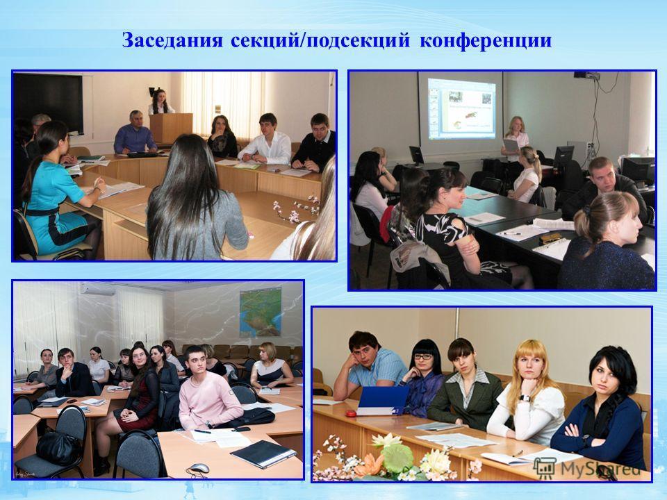 Заседания секций/подсекций конференции