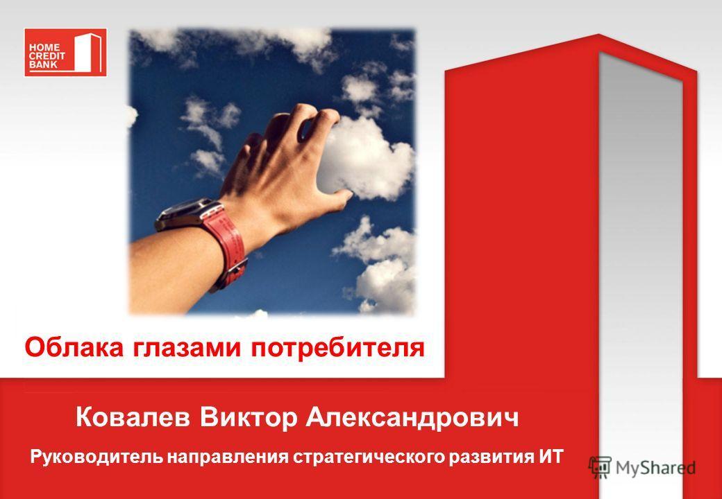 Ковалев Виктор Александрович Руководитель направления стратегического развития ИТ Облака глазами потребителя
