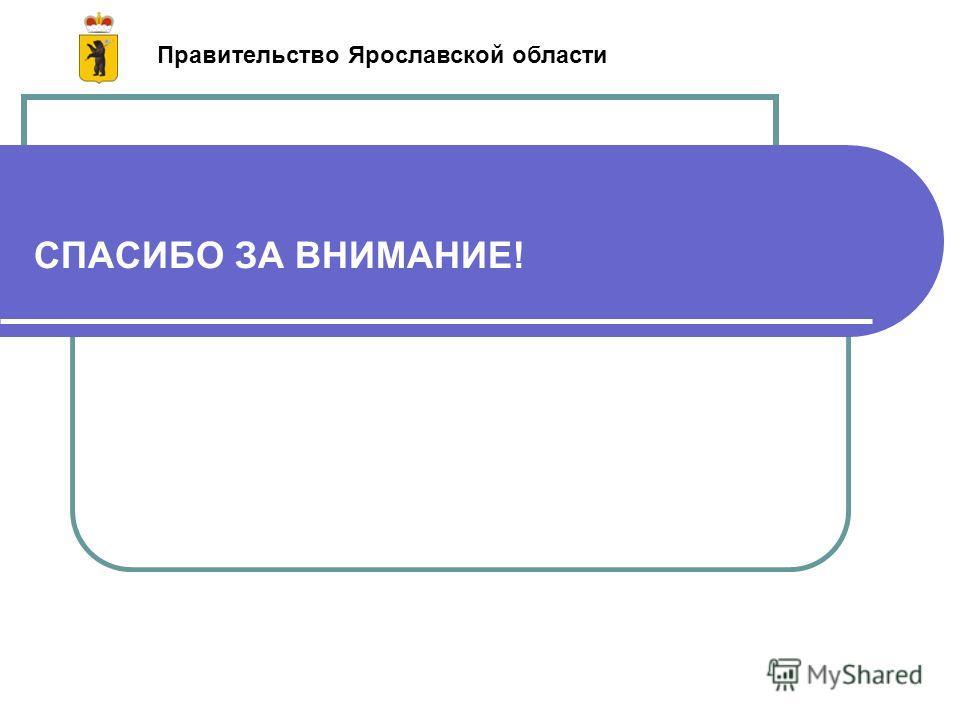 СПАСИБО ЗА ВНИМАНИЕ! Правительство Ярославской области
