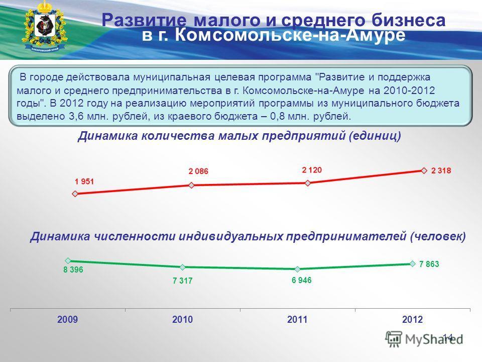 Министерство экономического развития и внешних связей края В городе действовала муниципальная целевая программа