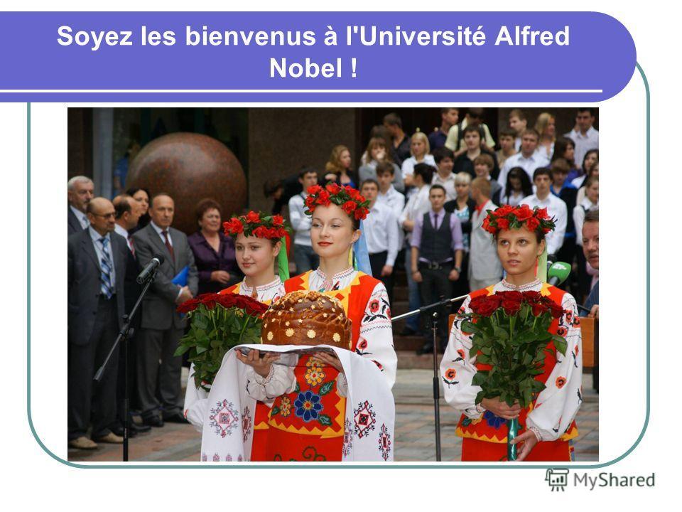 Soyez les bienvenus à l'Université Alfred Nobel !