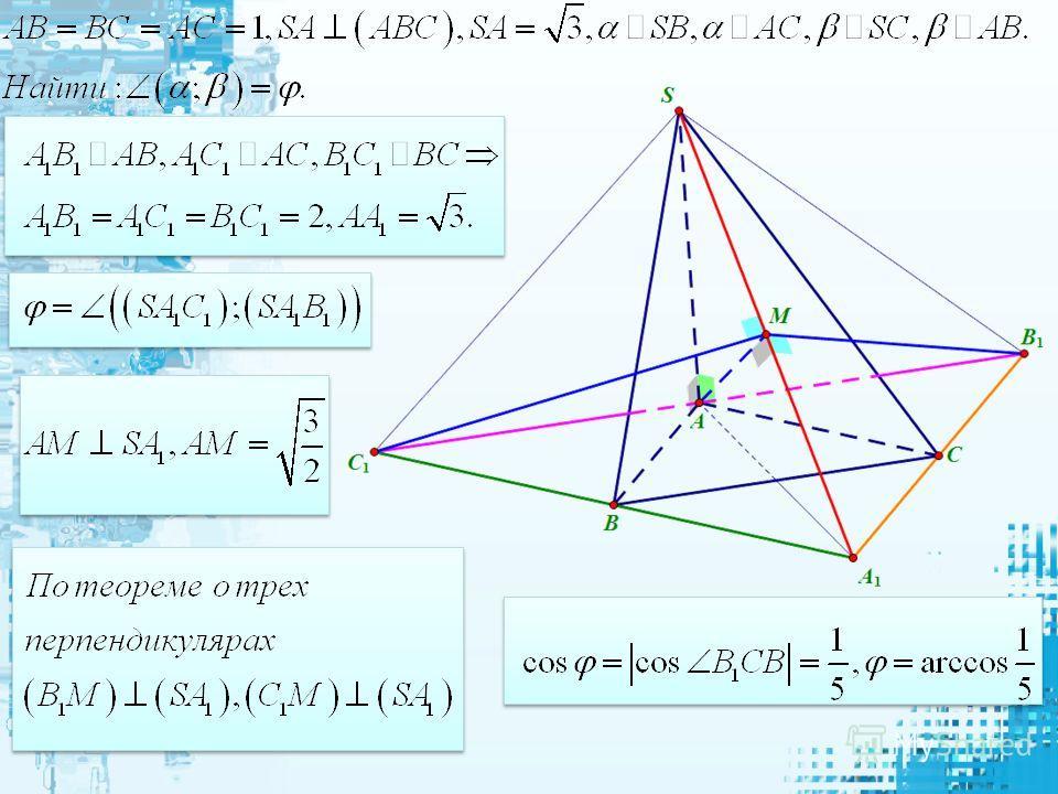 Площадь ортаганальной проекции многоугольника