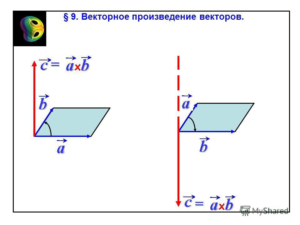 § 9. Векторное произведение векторов.