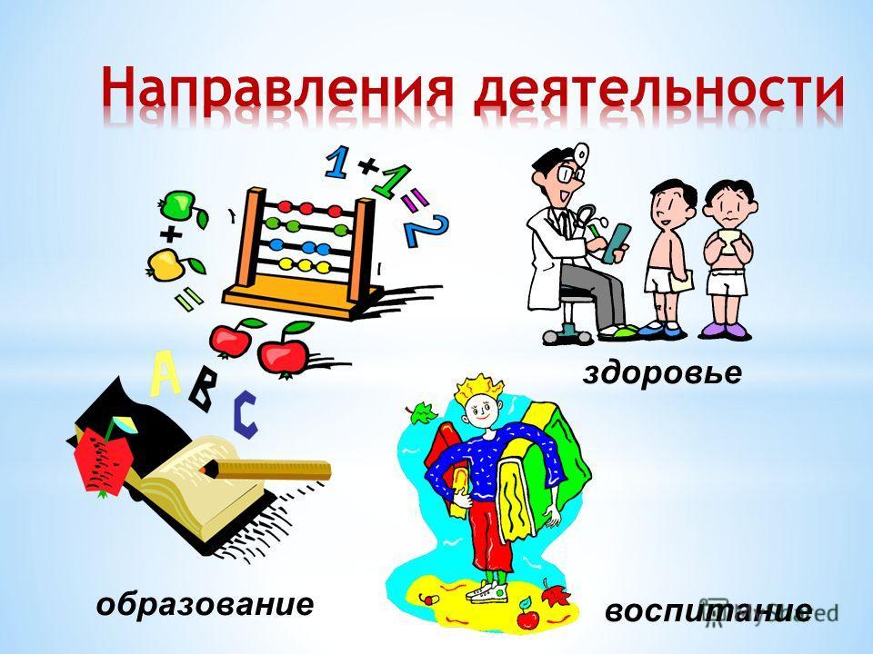 воспитание образование здоровье