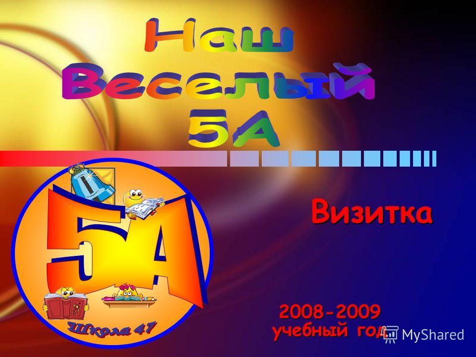 2008-2009 учебный год Визитка