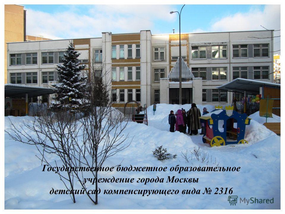 Государственное бюджетное образовательное учреждение города Москвы детский сад компенсирующего вида 2316