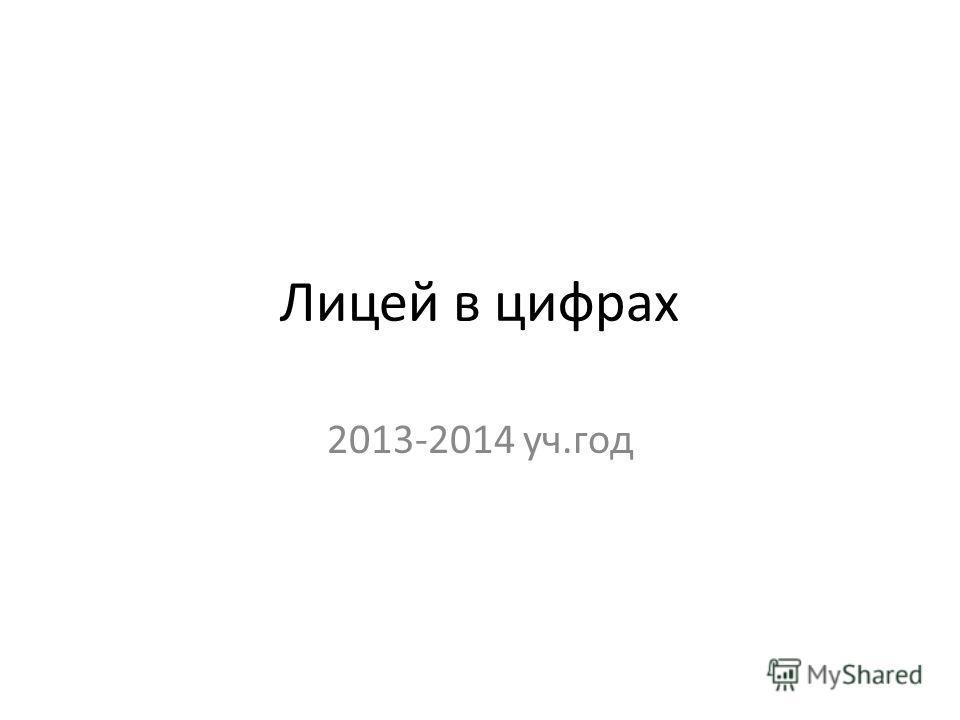 Лицей в цифрах 2013-2014 уч.год