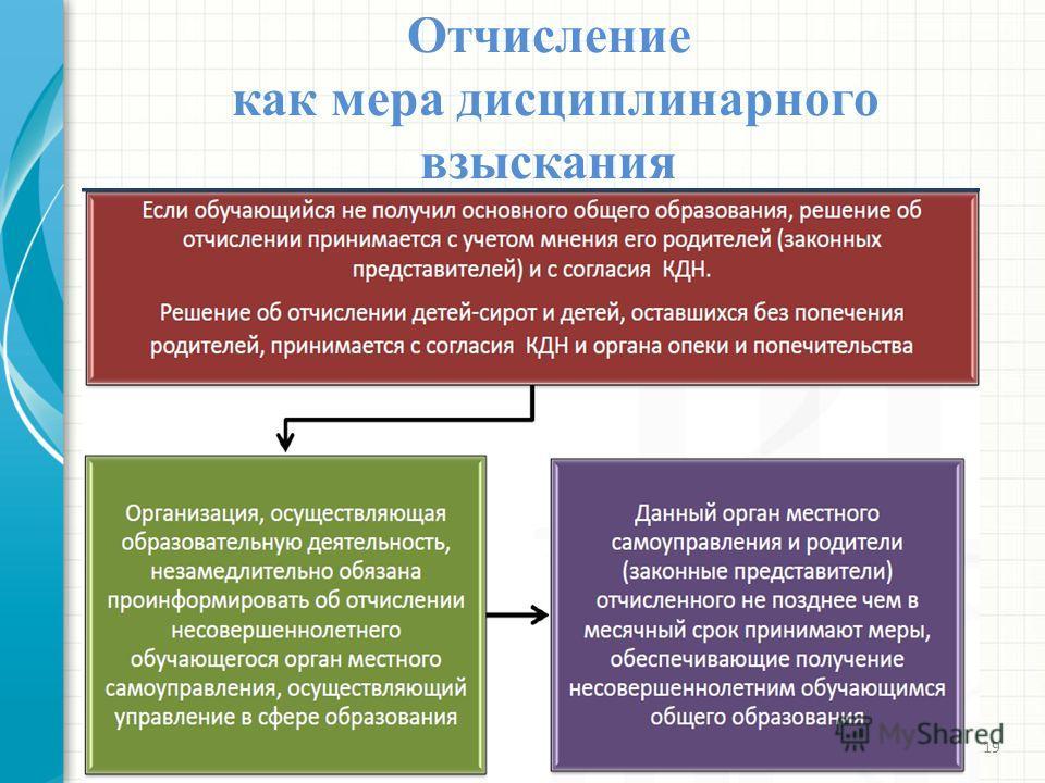 Отчисление как мера дисциплинарного взыскания 21.11.201319