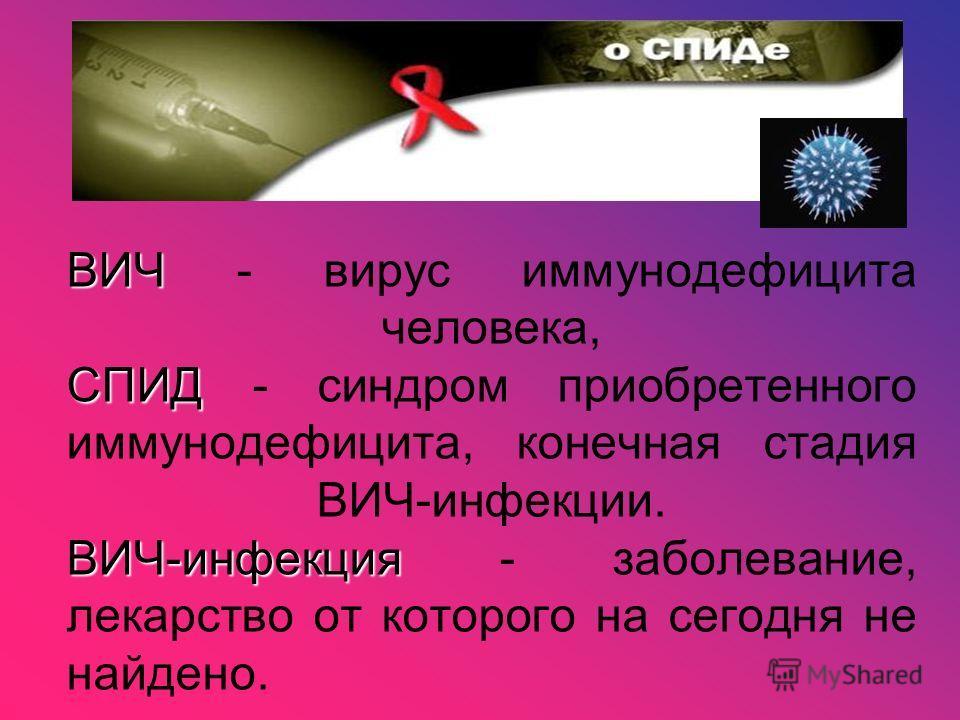 Синдром Приобретенного Иммунодефицита