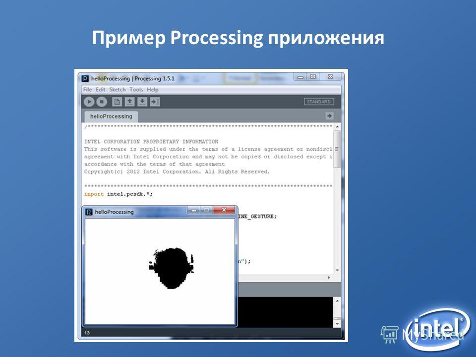 Пример Processing приложения