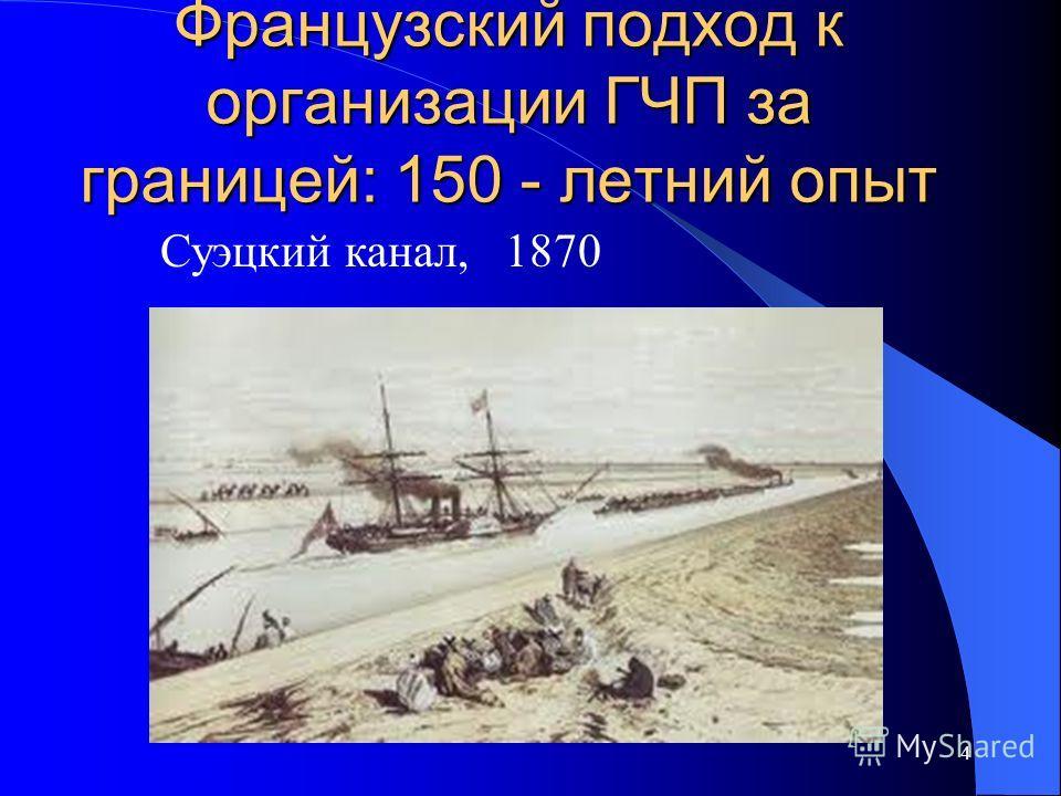 Французский подход к организации ГЧП за границей: 150 - летний опыт 4 Суэцкий канал, 1870