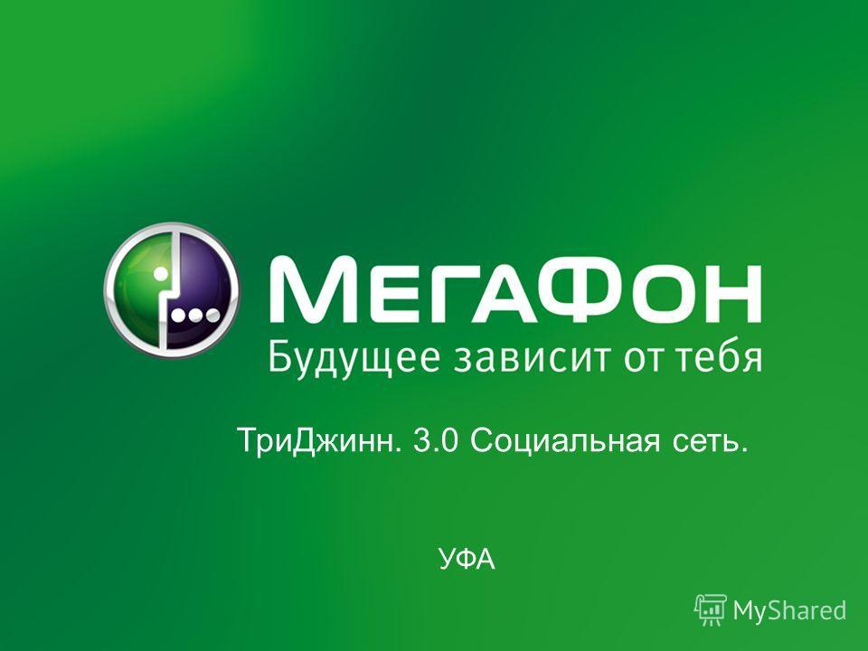 Федеральный проект ОАО «МегаФон» «Инновационность-2011» 1 ТриДжинн. 3.0 Социальная сеть. УФА