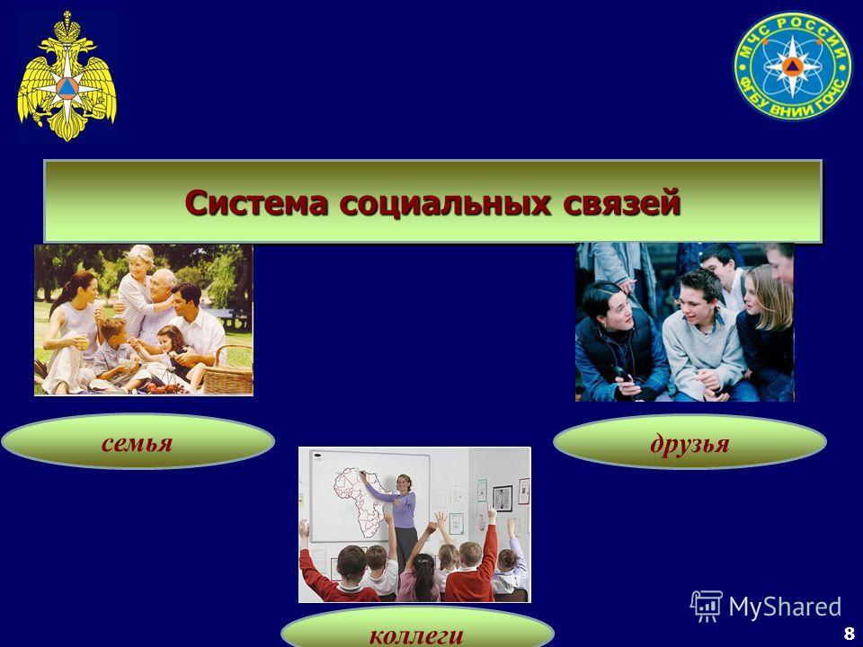 8 Система социальных связей семья коллеги друзья