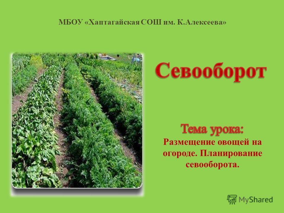 МБОУ «Хаптагайская СОШ им. К.Алексеева»