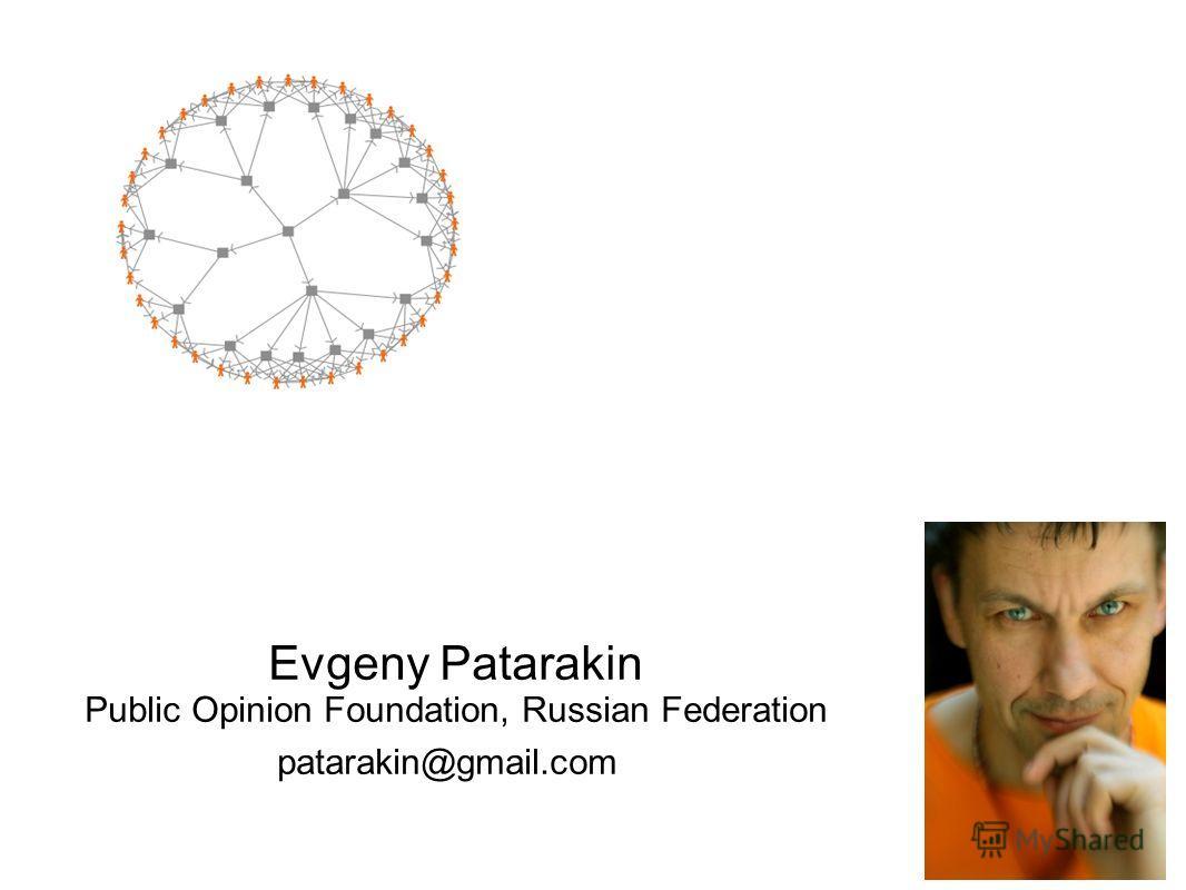 Evgeny Patarakin Public Opinion Foundation, Russian Federation patarakin@gmail.com