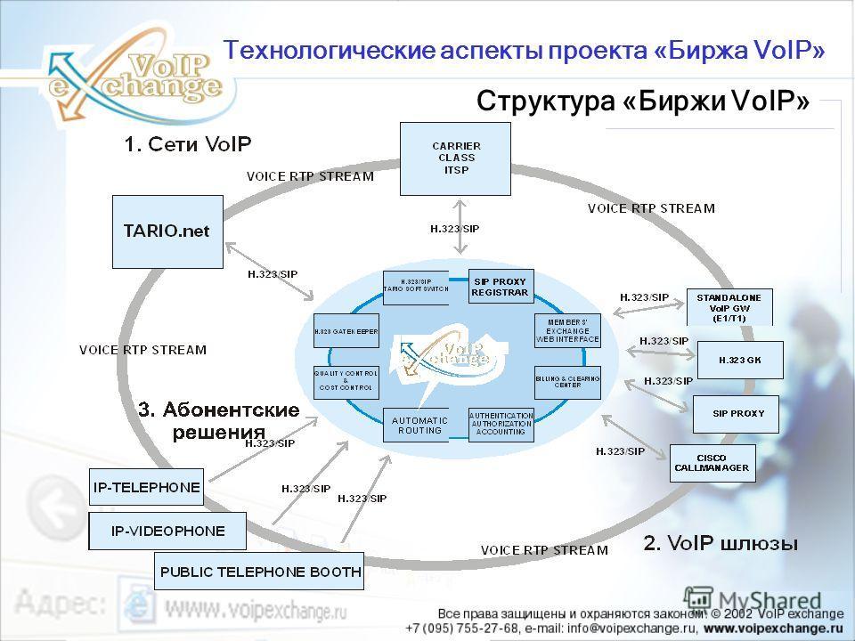 Структура «Биржи VoIP» Технологические аспекты проекта «Биржа VoIP»