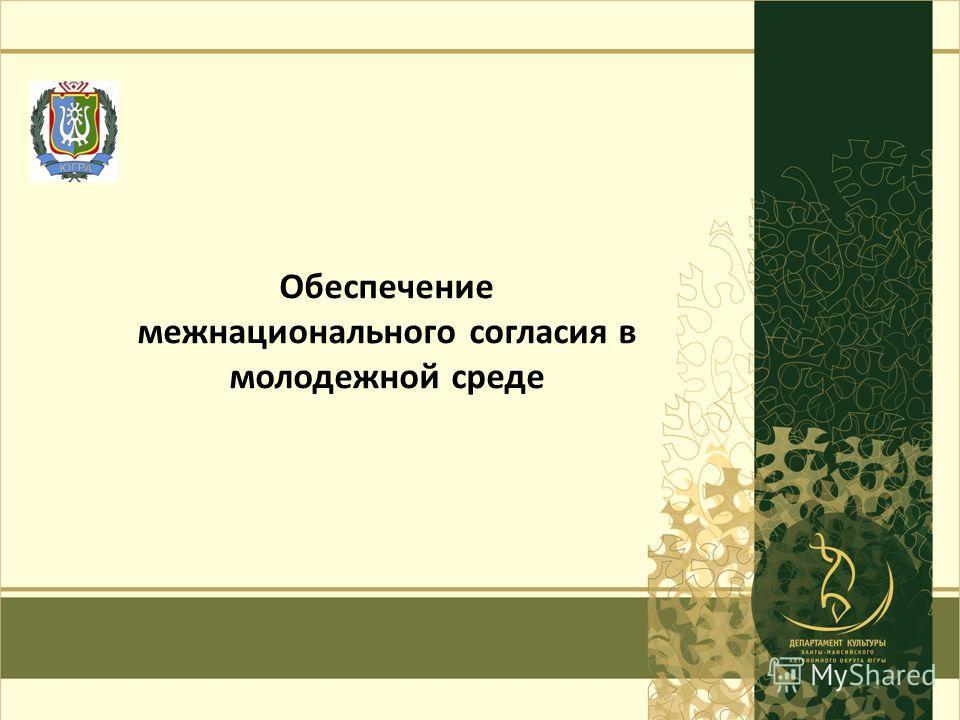 г. Ханты-Мансийск 2013 год1 Обеспечение межнационального согласия в молодежной среде