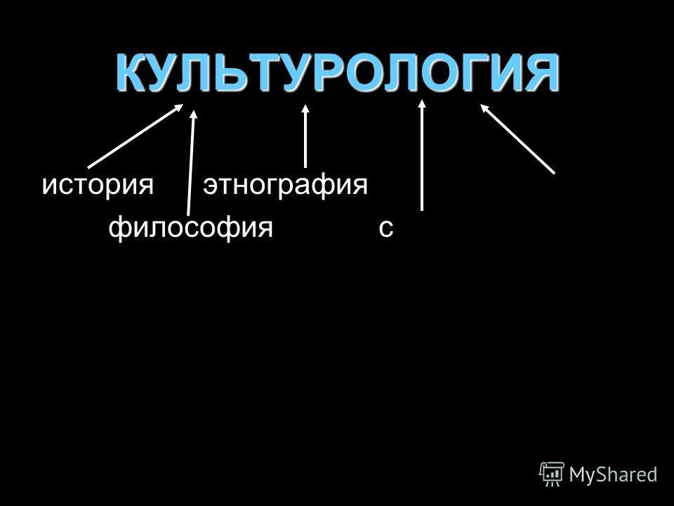 КУЛЬТУРОЛОГИЯ история этнография философия с