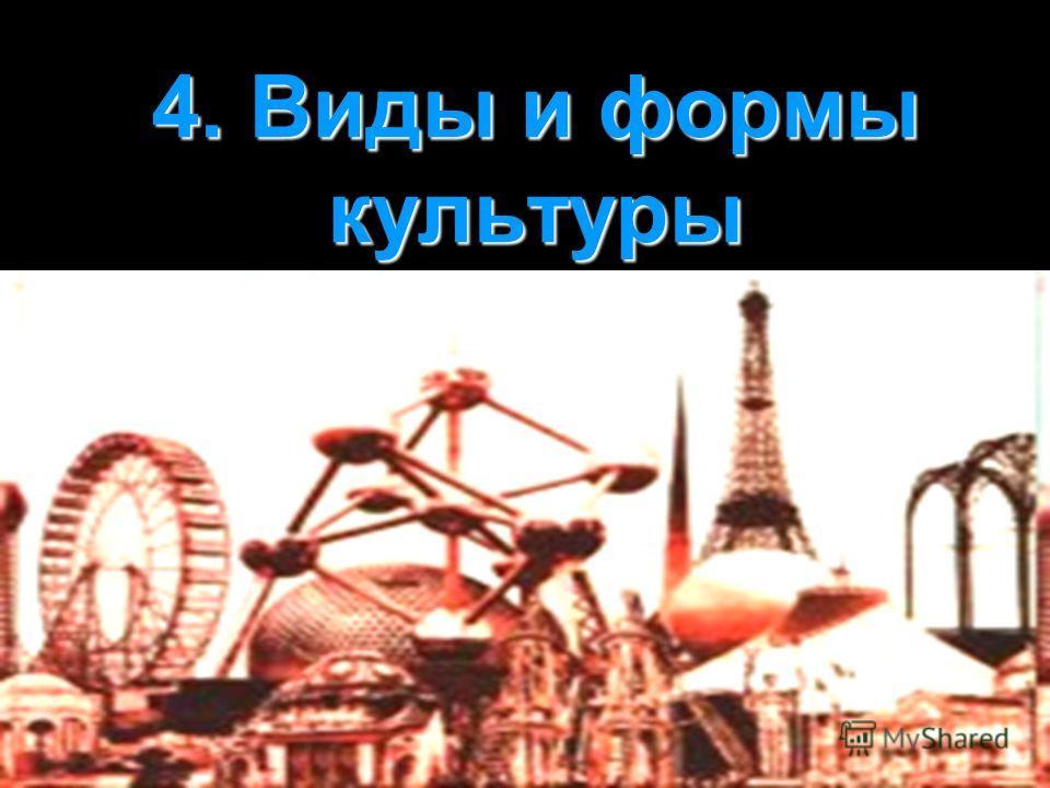 4. Виды и формы культуры