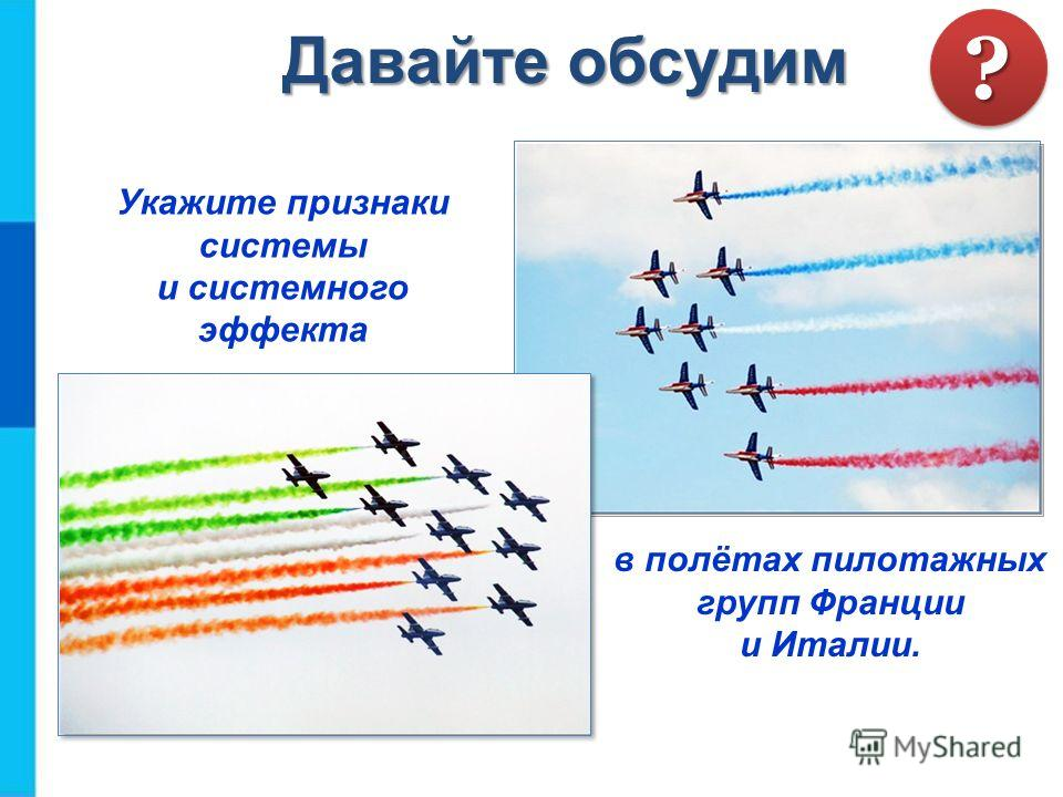Укажите признаки системы и системного эффекта в полётах пилотажных групп Франции и Италии. Давайте обсудим ??