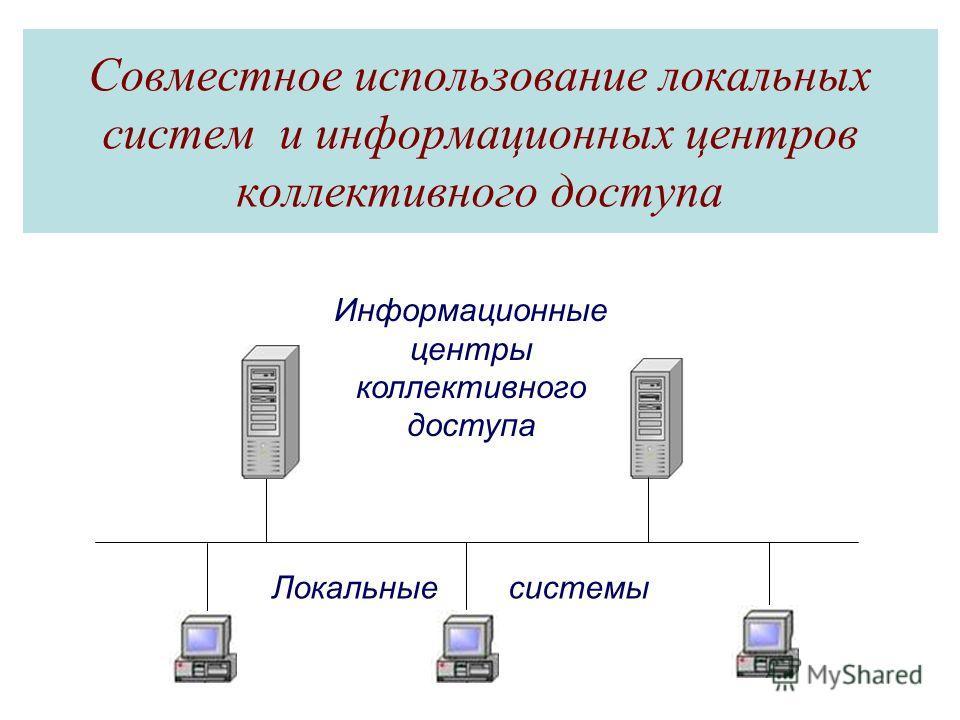 Совместное использование локальных систем и информационных центров коллективного доступа Информационные центры коллективного доступа Локальные системы