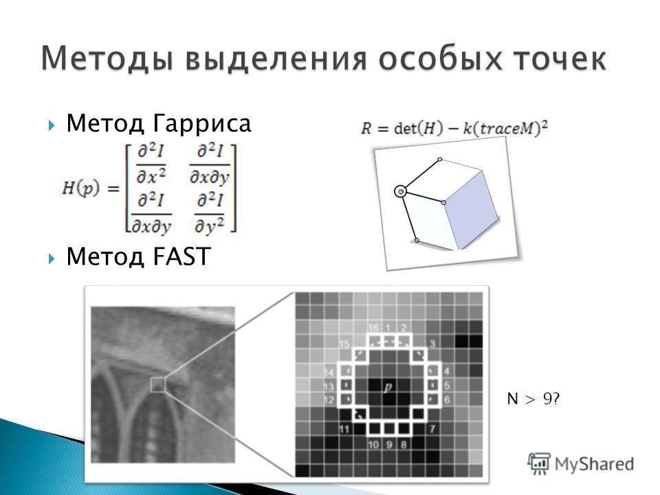 Метод Гарриса Метод FAST N > 9?