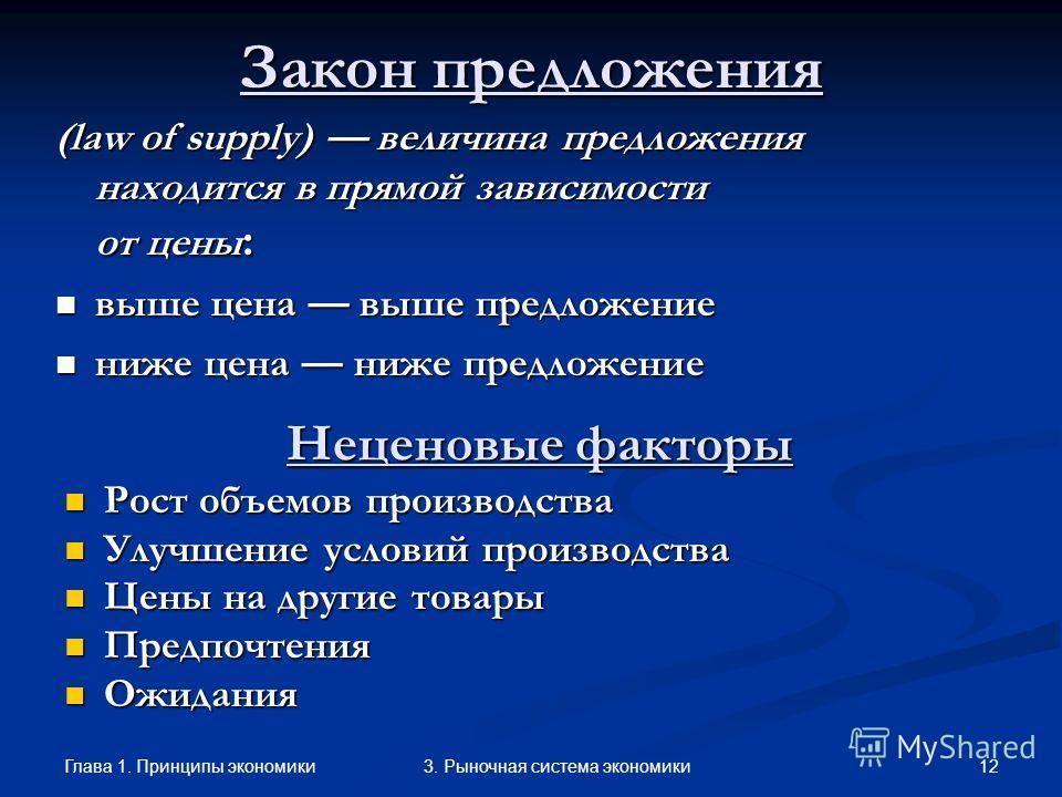 Глава 1. Принципы экономики 113. Рыночная система экономики Предложение: изменение цены P Q A C S