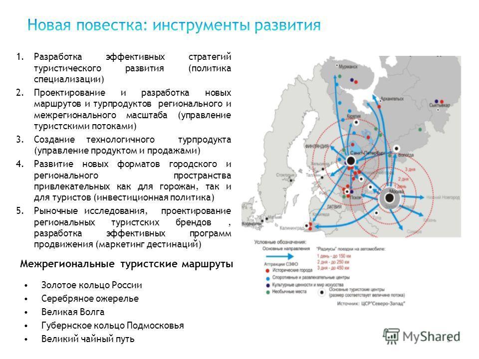 3 1.Разработка эффективных стратегий туристического развития (политика специализации) 2.Проектирование и разработка новых маршрутов и турпродуктов регионального и межрегионального масштаба (управление туристскими потоками) 3.Создание технологичного т