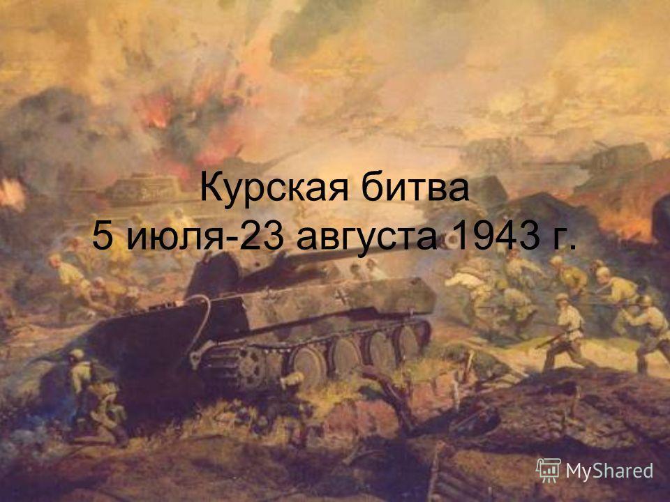 Курская битва 5 июля-23 августа 1943 г.