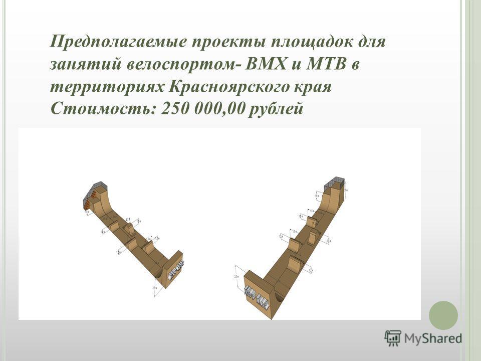 Предполагаемые проекты площадок для занятий велоспортом- ВМХ и МТВ в территориях Красноярского края Стоимость: 250 000,00 рублей