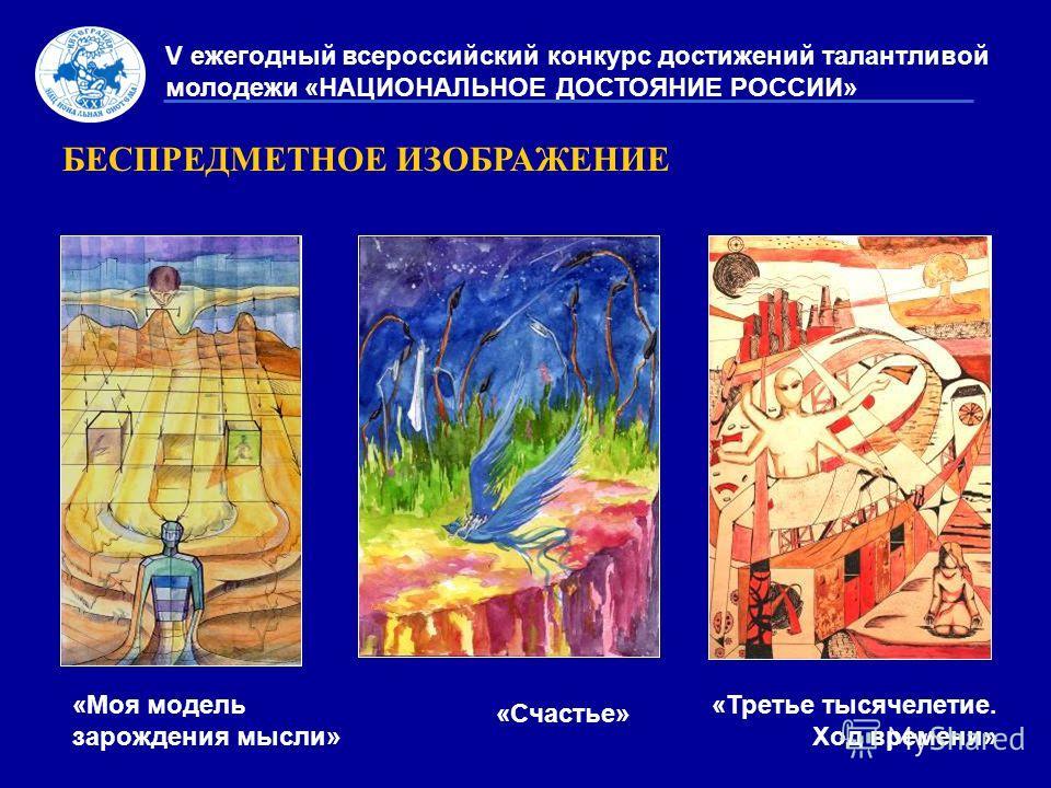 БЕСПРЕДМЕТНОЕ ИЗОБРАЖЕНИЕ V ежегодный всероссийский конкурс достижений талантливой молодежи «НАЦИОНАЛЬНОЕ ДОСТОЯНИЕ РОССИИ» «Моя модель зарождения мысли» «Счастье» «Третье тысячелетие. Ход времени»