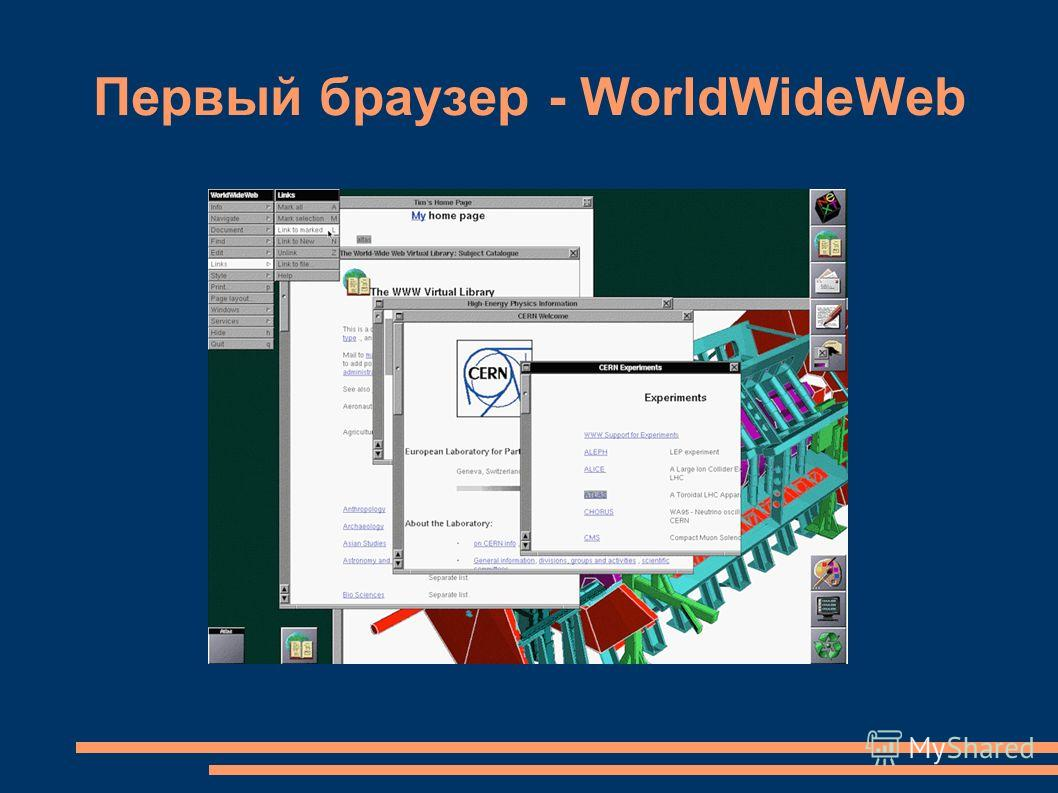 Первый браузер - WorldWideWeb