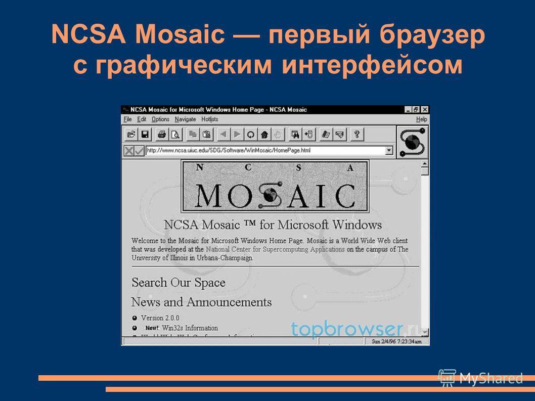 NCSA Mosaic первый браузер с графическим интерфейсом
