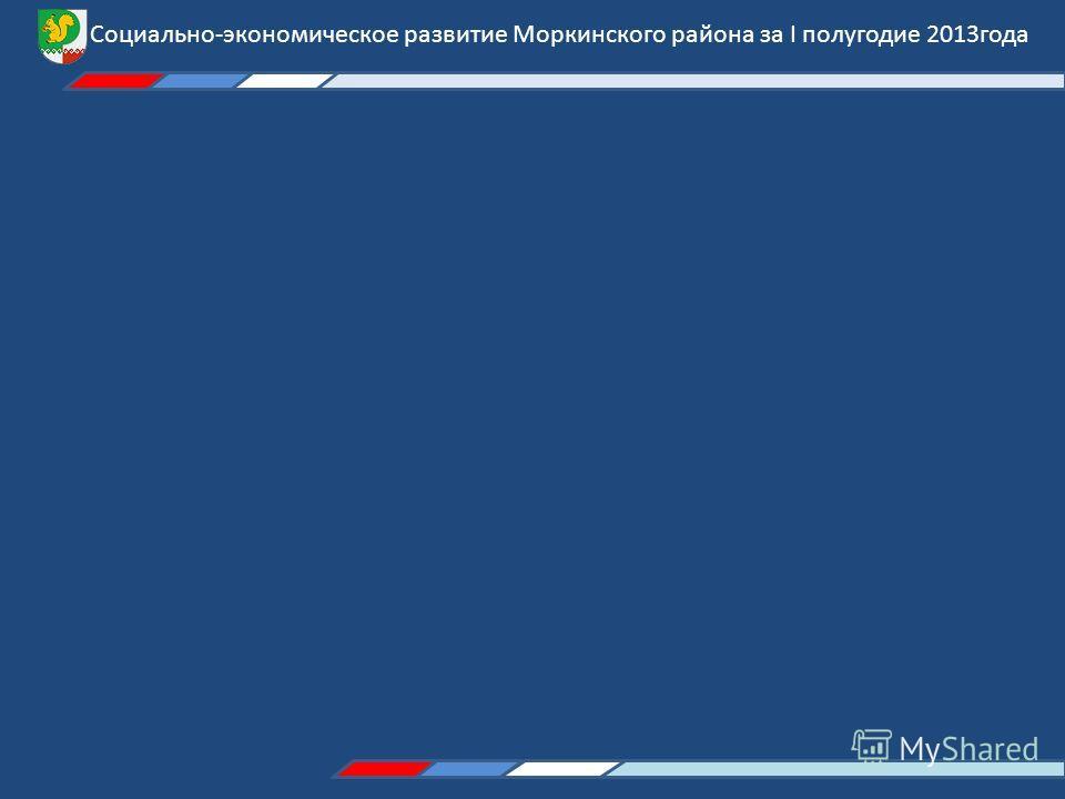 Социально-экономическое развитие Моркинского района за I полугодие 2013года