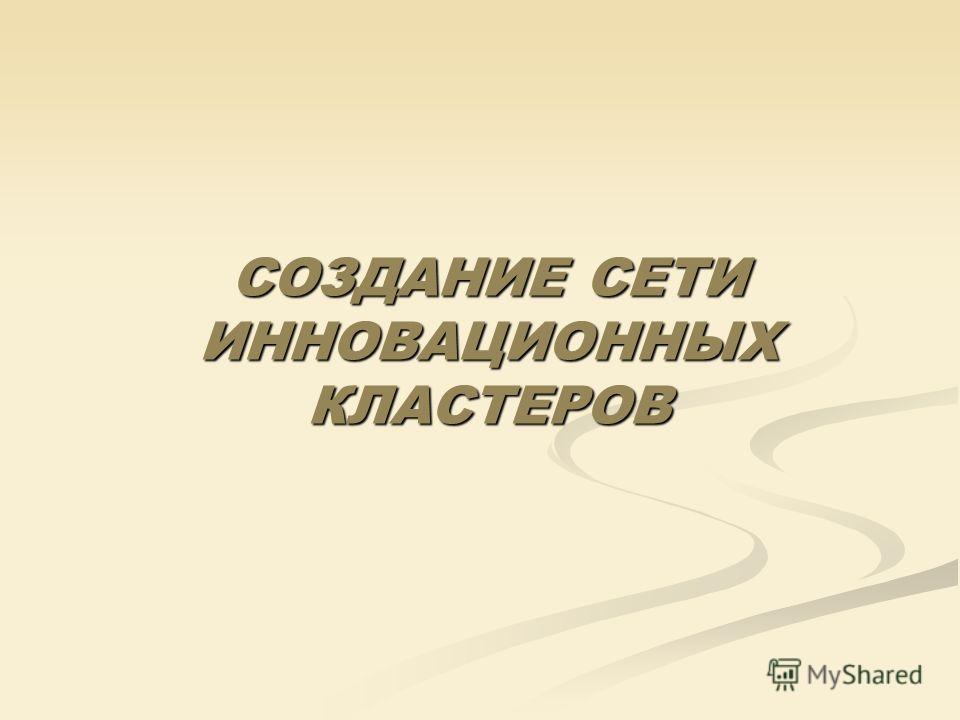 СОЗДАНИЕ СЕТИ ИННОВАЦИОННЫХ КЛАСТЕРОВ