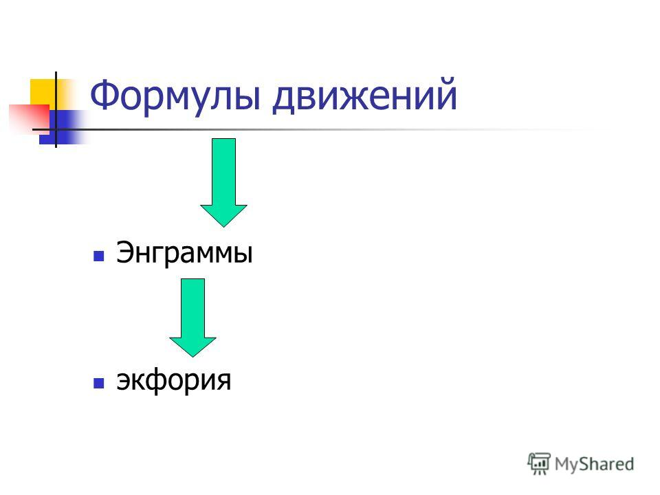 Формулы движений Энграммы экфория