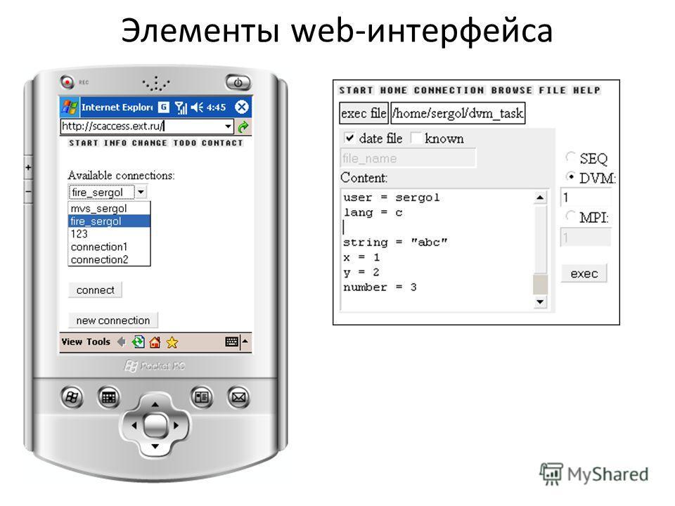 Элементы web-интерфейса