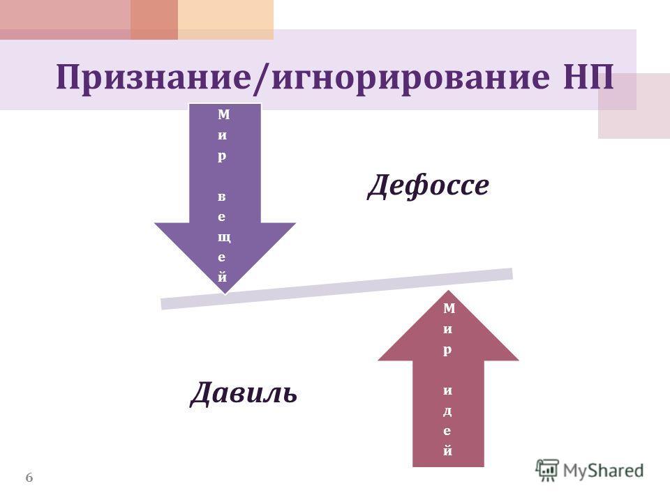 Признание/игнорирование НП 6 Дефоссе Давиль