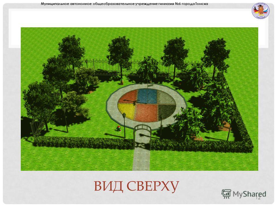 ВИД СВЕРХУ 12 Муниципальное автономное общеобразовательное учреждение гимназия 6 города Томска