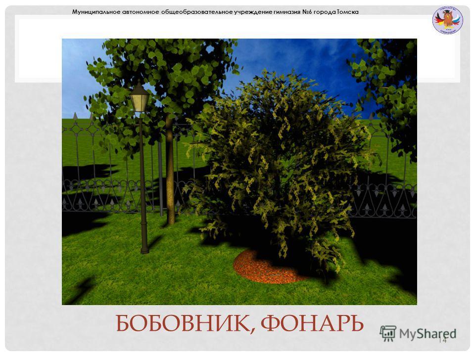 БОБОВНИК, ФОНАРЬ 14 Муниципальное автономное общеобразовательное учреждение гимназия 6 города Томска
