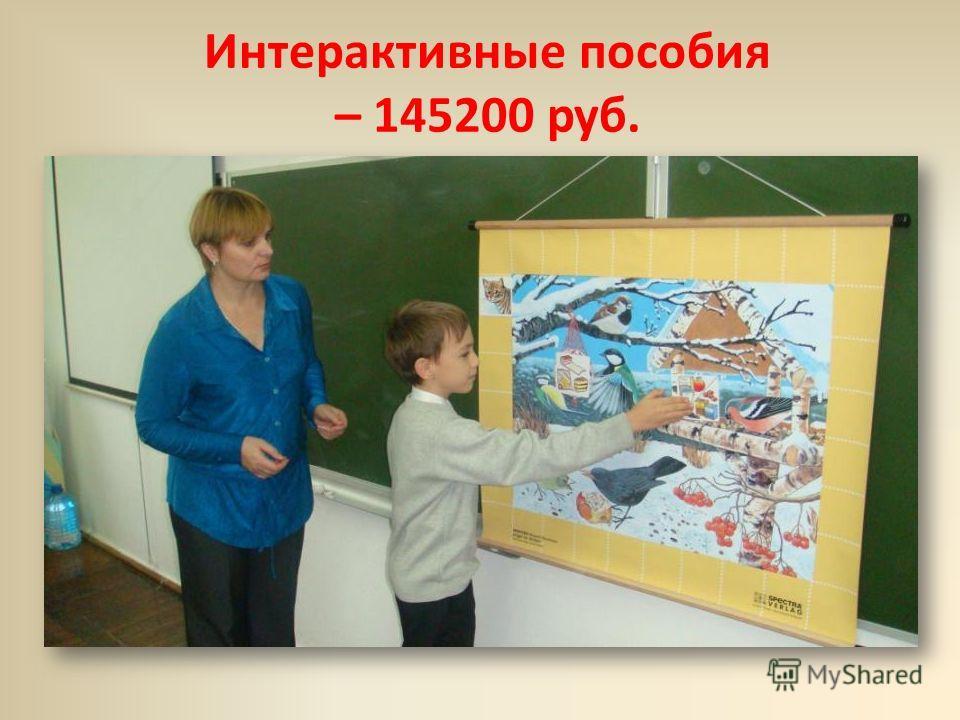 Интерактивные пособия – 145200 руб.