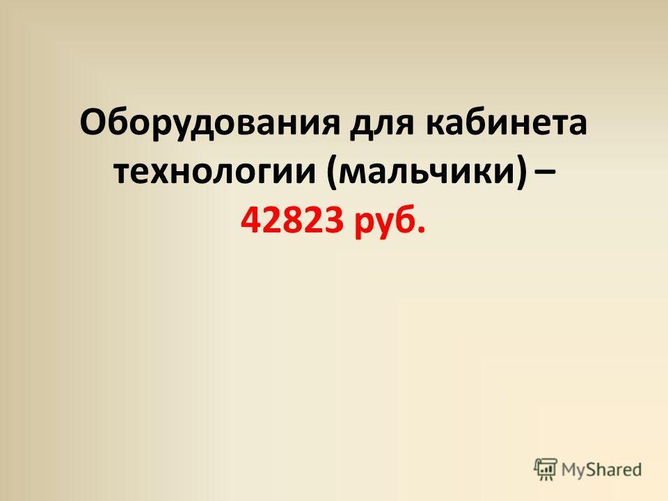 Оборудования для кабинета технологии (мальчики) – 42823 руб.
