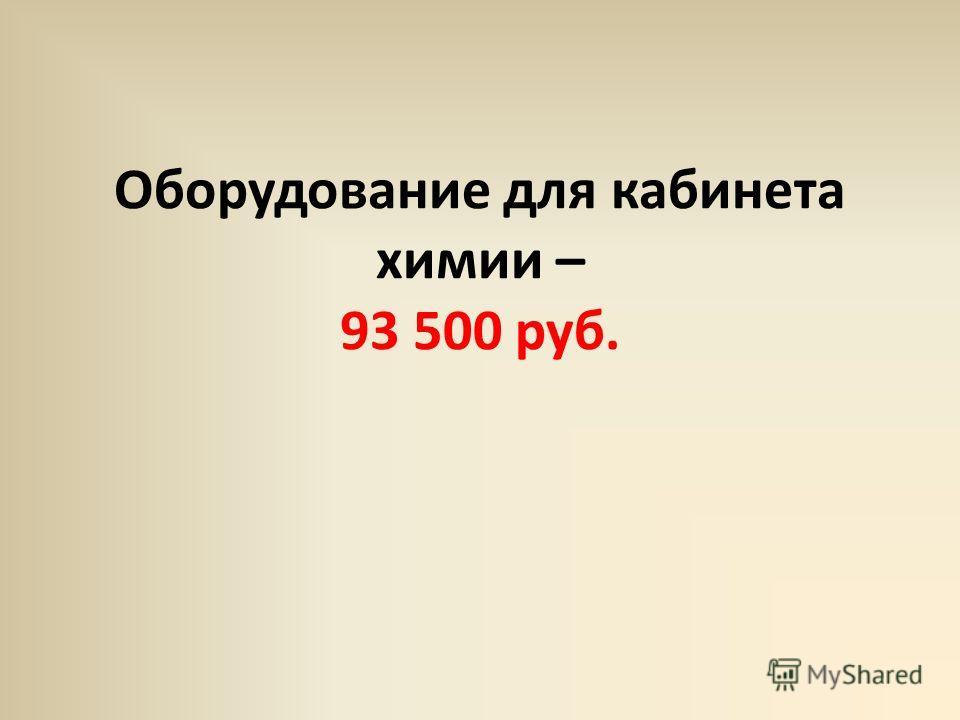 Оборудование для кабинета химии – 93 500 руб.