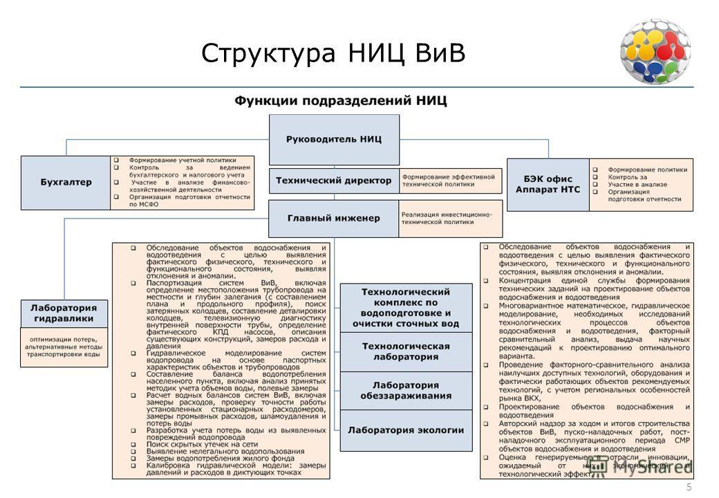 Структура НИЦ ВиВ 5