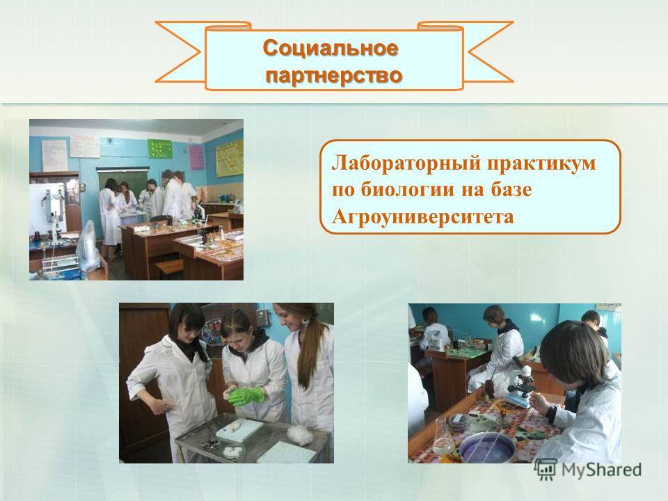 Социальноепартнерство Лабораторный практикум по биологии на базе Агроуниверситета