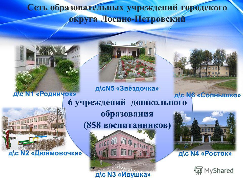 Сеть образовательных учреждений городского округа Лосино-Петровский