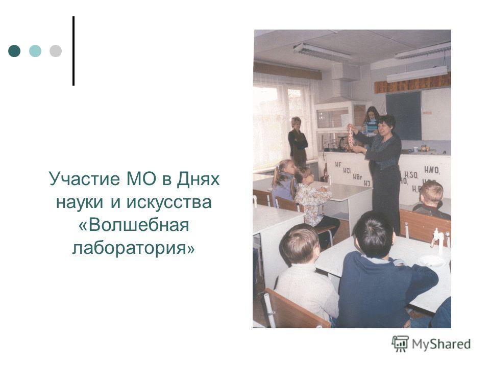Участие МО в Днях науки и искусства «Волшебная лаборатория »