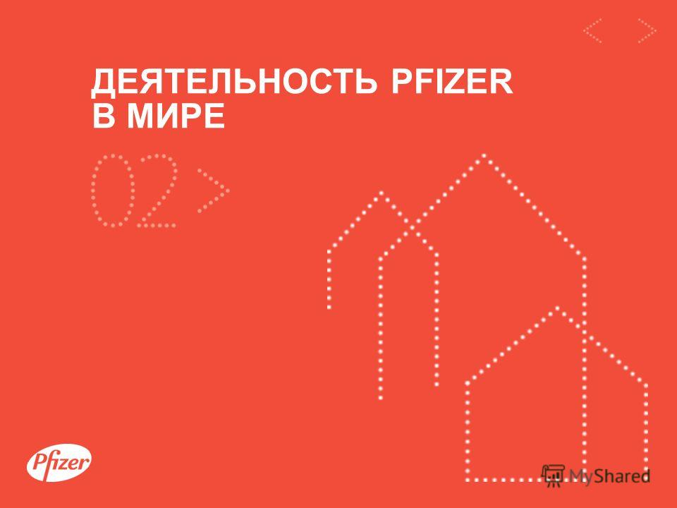 / 13 Презентация компании Pfizer ДЕЯТЕЛЬНОСТЬ PFIZER В МИРЕ