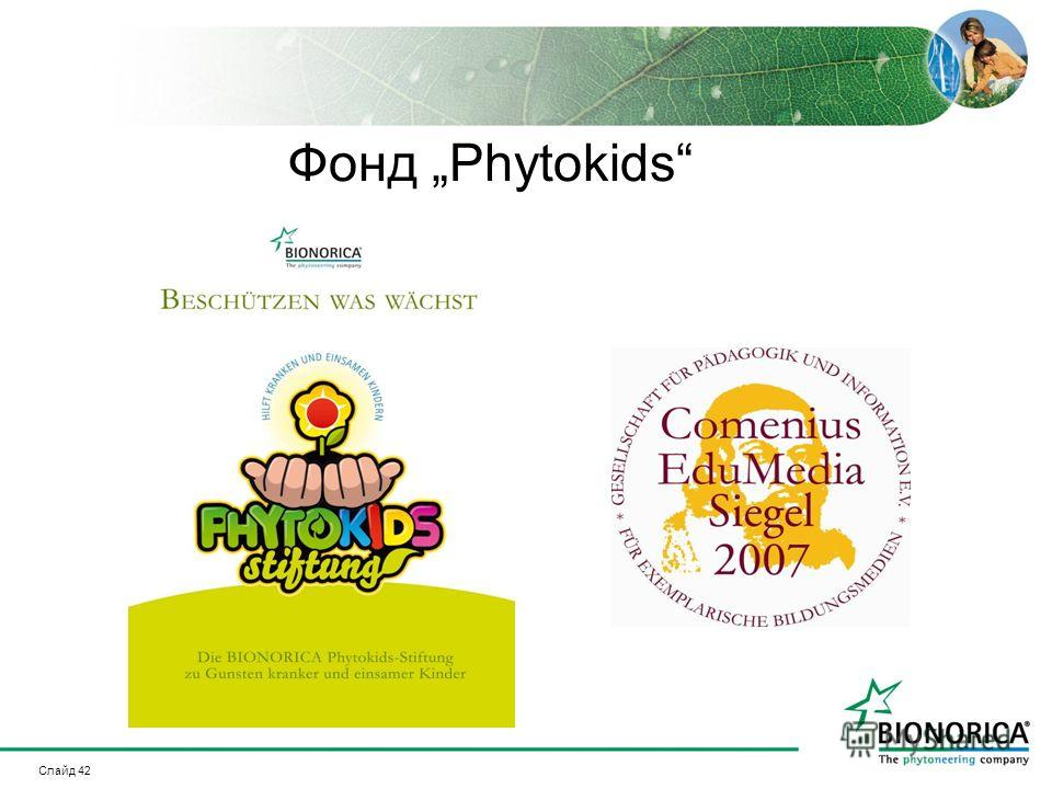 Слайд 42 Фонд Phytokids