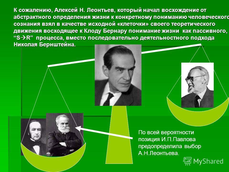 Век спустя Николай Бернштейн – великий русский физиолог выдвинул гениальную идею о том, что невозможно понять жизнь, если рассматривать ее как пассивный, симулреактивный процесс. Согласно его оценке декартовская или павловская рефлекторная дуга – не